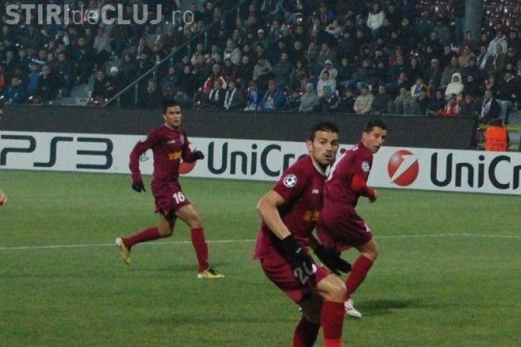 Înfrângere dură pentru CFR Cluj la Giurgiu. Au jucat aproape o repriză în superioritate numerică