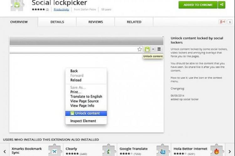 Social Lockpicker sau cum să poți vedea clipurile fără să dai LIKE pe Facebook la toate prostiile