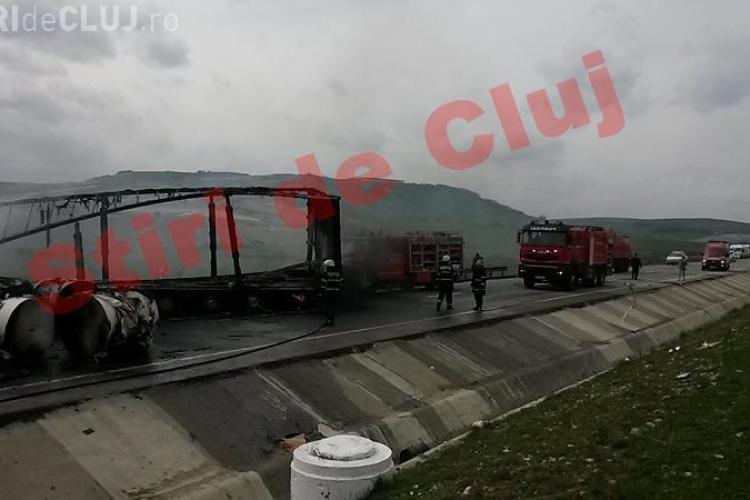 Accident grav pe centura Apahida - Vâlcele! O mașină a luat foc. Două persoane au murit - VIDEO