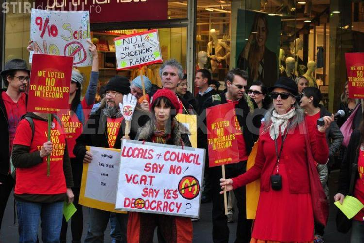Protest la nivel mondial în lanțurile de fast-food