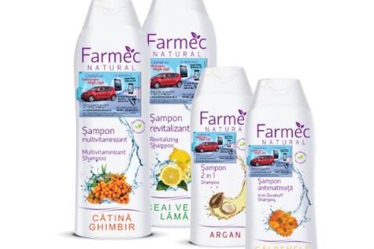 Noile șampoane Farmec Natural îți pot aduce o mașină nouă. Vezi cum poți câștiga marele premiu(P)
