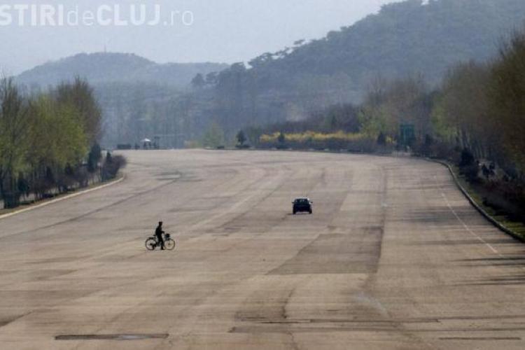 Cum arată autostrada pustie din Coreea de Nord - VIDEO