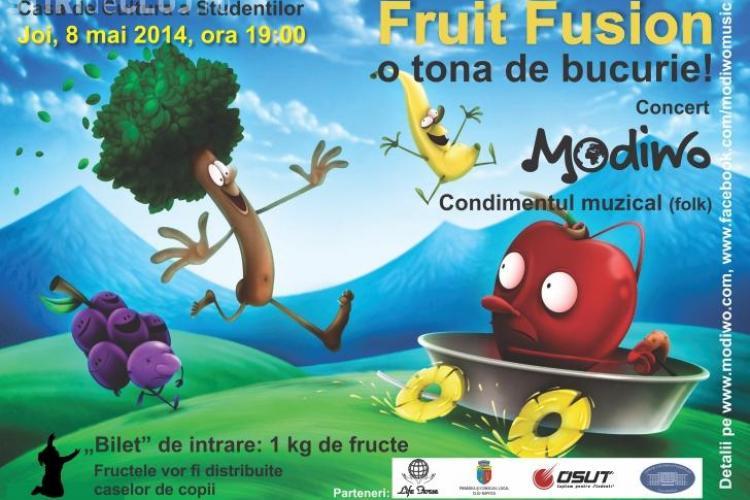 Fruit Fusion - Concert caritabil la Cluj, unde biletul se plătește cu un kilogram de fructe