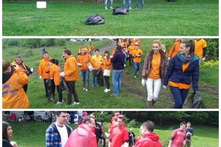 Cum cer politicienii din Cluj voturile la grătar. Valea Gârbăului și Hoia, igienizate contra voturi - FOTO
