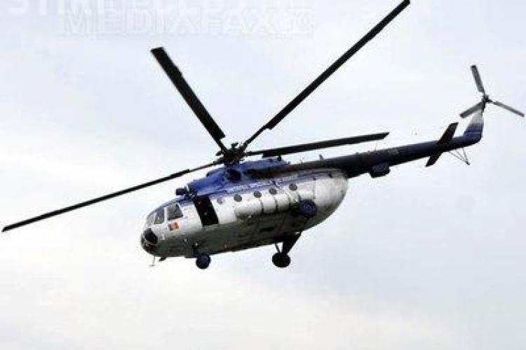 Elicopter al Jandarmeriei deasupra Pieței Lucian Blaga - VIDEO