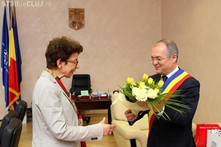Ambasadorul Tunisiei în vizită la Cluj-Napoca. A fost să îl vadă pe Boc la primărie