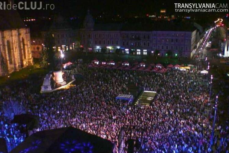 Piața Unirii plină la concertul Loredana - VIDEO