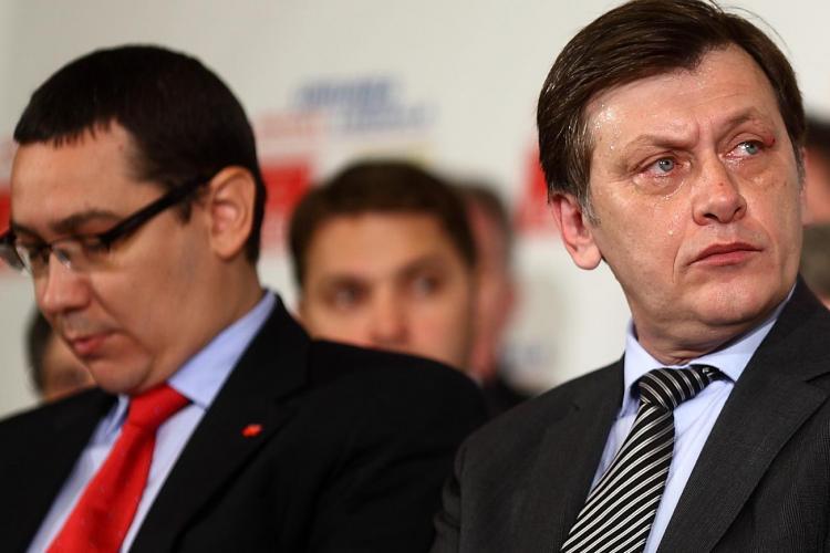 Ponta dă vina pe Antonescu pentru ruperea USL: Antonescu a omorât USL