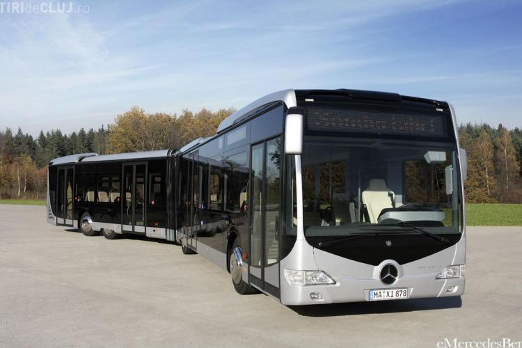 Mercedes sau Solaris vor vinde 50 de autobuze la Cluj. Sunt singurele firme înscrise la licitația de 11,5 milioane de euro