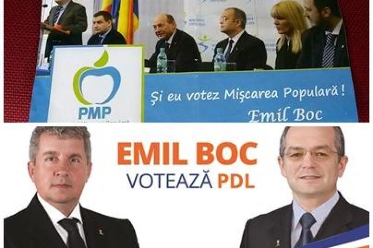 Fluturași PMP cu Emil Boc în cutiile poștale din Cluj. PDL a RIPOSTAT DUR - FOTO