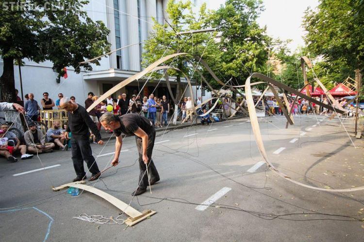 Zona străzii Mihail Kogălniceanu, transformată în zonă de artă stradală pentru Zilele Clujului