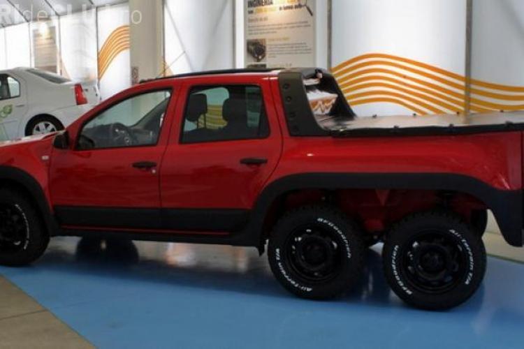 Cum arată Dacia Duster cu 6 roţi - FOTO