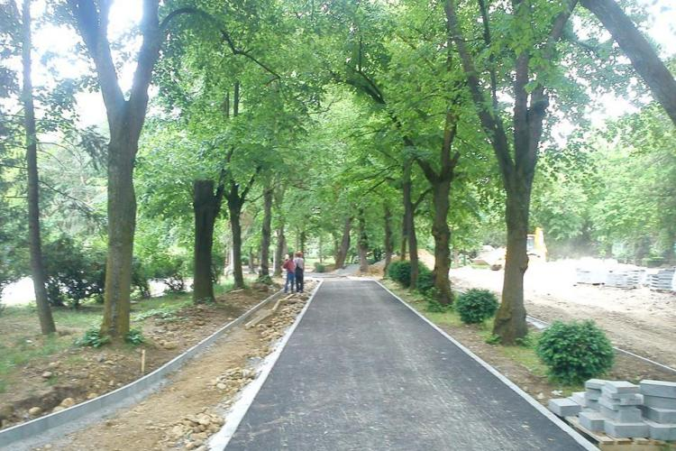 UBB Cluj asfaltează Parcul Babeș din fonduri europene - FOTO
