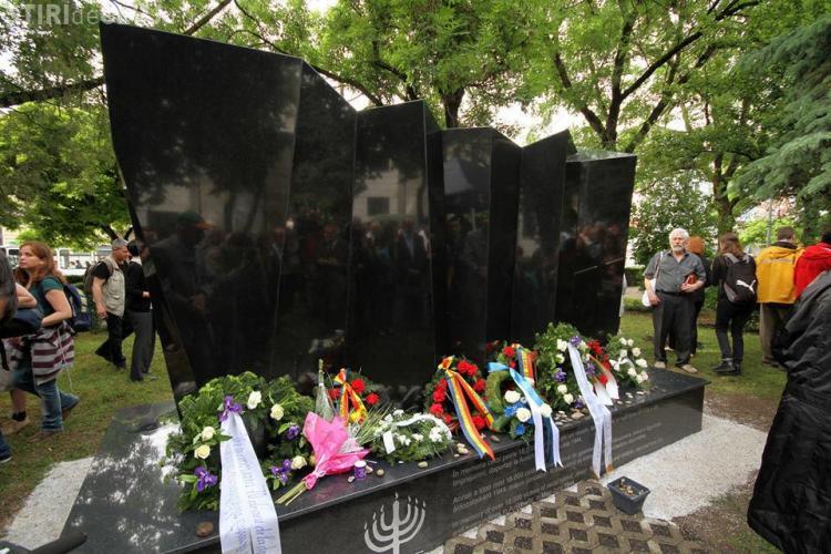 Cluj - Monument de comemorare a victimelor Holocaustului dezvelit în Parcul I.L. Caragiale - FOTO