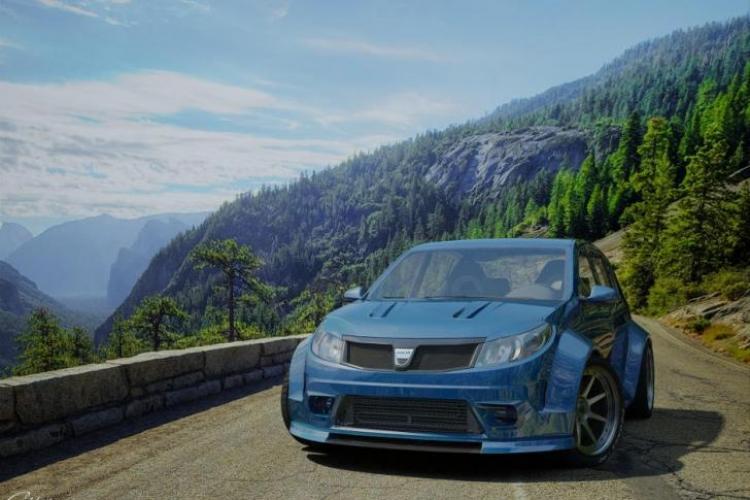 Cum arată Dacia Sandero GTI, într-o simulare virtuală - FOTO