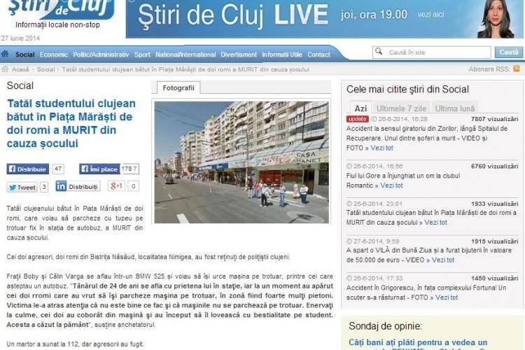 Știri de Cluj - RECORD de trafic joi, 26 iunie, aproape 50.000 de cititori UNICI. Va multumim!
