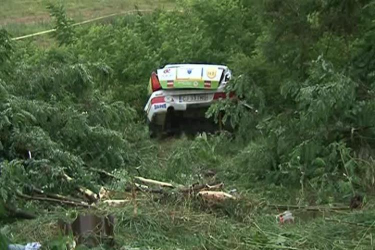 Accident de raliu la Cluj - Transilvania Rally! Un copilot grec a fost rănit la Beliș