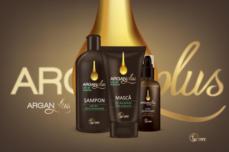 Farmec lansează noua gamă de îngrijire a părului ArganPlus (P)