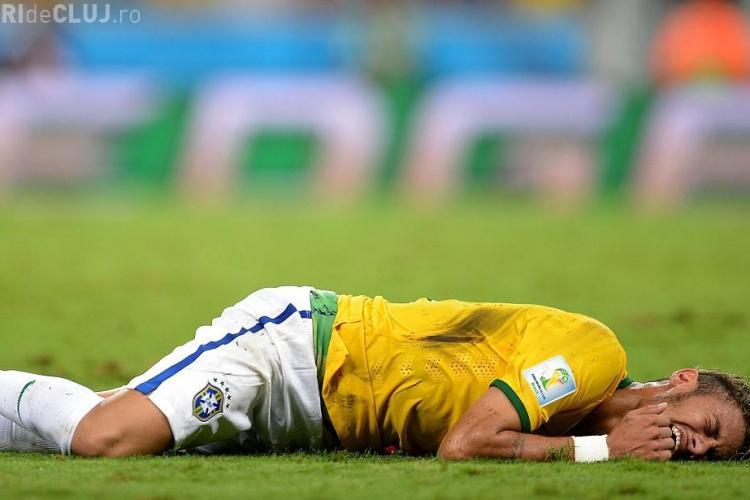 CUPA MONDIALĂ 2014. Neymar nu va mai juca la această ediție. Ce spun medicii?