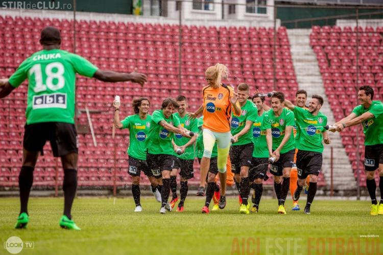 Roxana Ciuhulescu s-a antrenat cu băieții de la CFR Cluj - FOTO