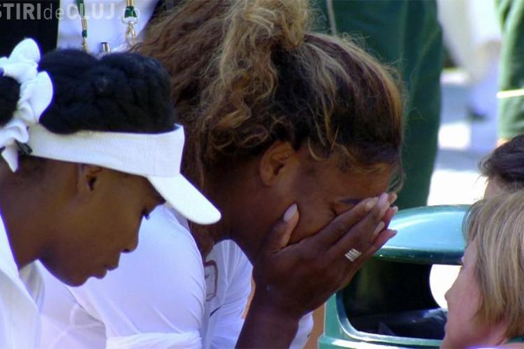 Serena Williams părea mahmură în meciul de dublu, de la Wimblendon! IMAGINILE cu sportiva amețită - VIDEO