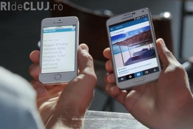 """iPhone 6 """"batjocorit"""" într-o reclamă de la Samsung înainte să fie lansat VIDEO"""