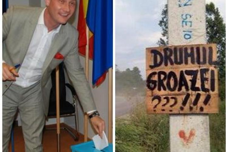 Seplecan anunță control la drumul de la Fizeșu Gherlii, iar conducerea Consiliului Județean Cluj s-a SPERIAT