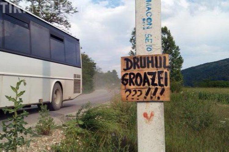 Drumul GROAZEI - Gherla - Fizeşu Gherlii - Ţaga intră de URGENȚĂ în reparații