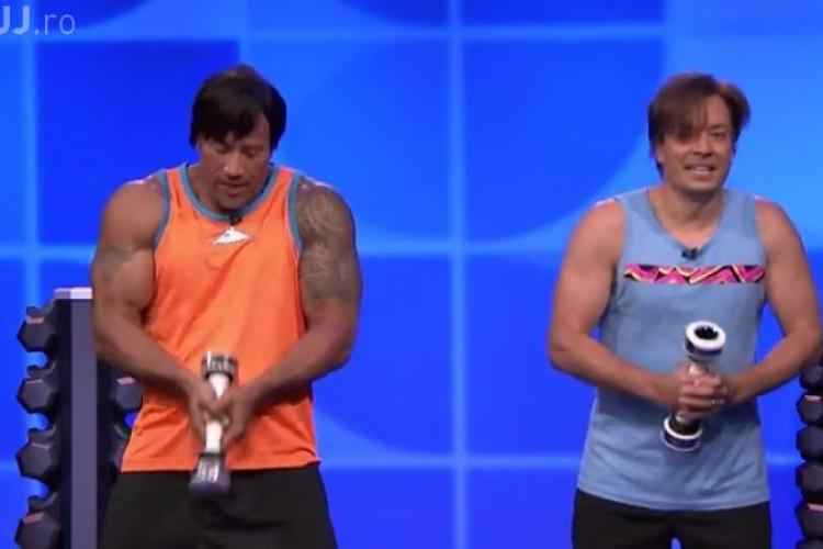 AMUZANT - The Rock s-a dat în spectacol la o emisiune de maxima audienta - VIDEO