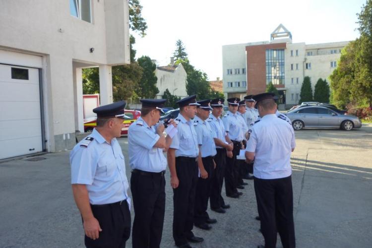 53 de pompieri din cadrul ISU Cluj au fost avansaţi la termen - FOTO