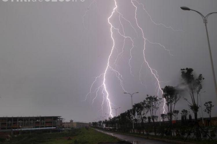 COD GALBEN de ploi la Cluj! Meteorologii au făcut ACUM anunțul