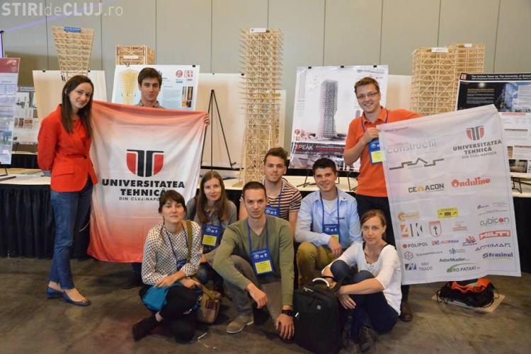 Studenții clujeni de la UTCN au câștigat un concurs internațional în SUA, cu o SUPER clădire anti-seism - FOTO