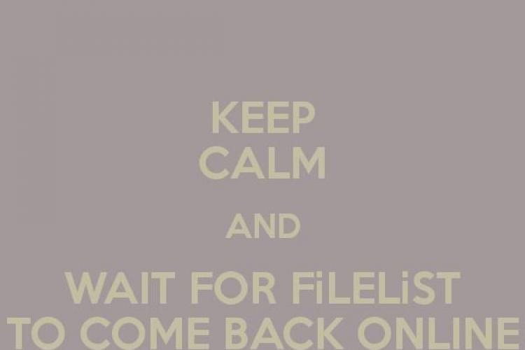 Filelist.ro a căzut joi seara, din motive tehnice