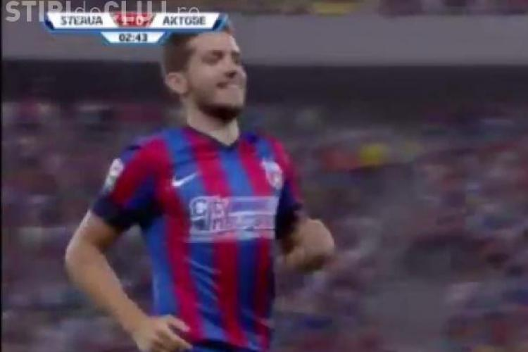 Steaua s-a calificat în play-off-ul UCL după victoria împotriva Aktobe REZUMAT VIDEO