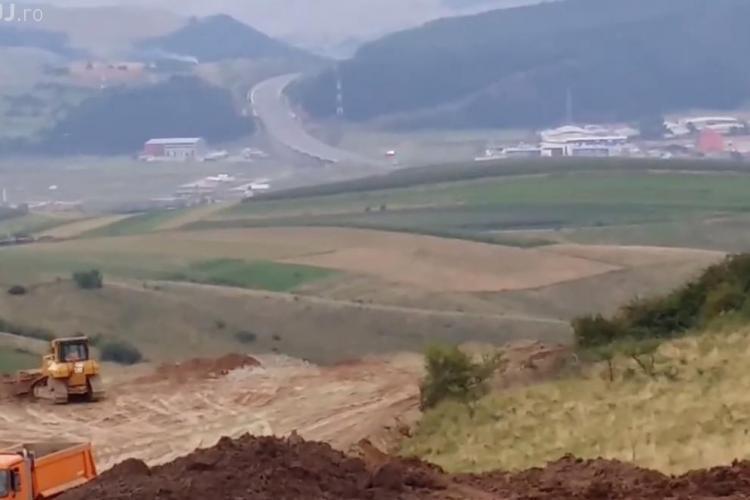 Au început lucrările la Autostrada Transilvania, tronsonul Gilău - Nadasel. VEZI dovada! - FOTO