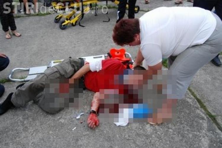 Accident pe Centura Apahida! Un floreștean cu un scuter a rupt parapetul de separare a sensurilor