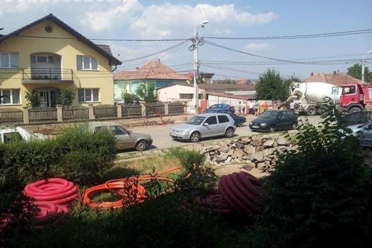 Strada Jiului din Cluj: Compania de Apă susține că a terminat de 3 săptămâni lucrările
