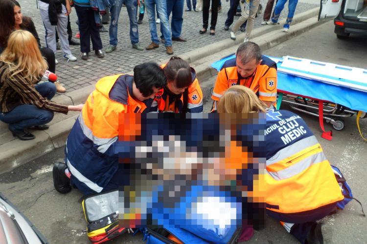 Accident în Piața Unirii! A lovit o femeie pe trecerea de pietoni