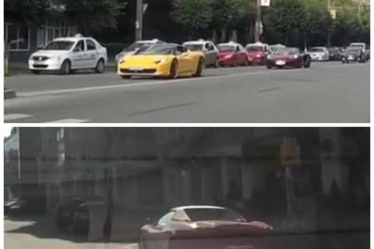 Bolizii milionarilor din Cluj, filmați în trafic de un șofer! E ca în Principatul Monapoca - VIDEO