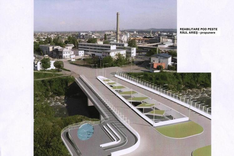 Turda - Cum va arăta podul de peste Arieș. Traficul este restricționat - FOTO