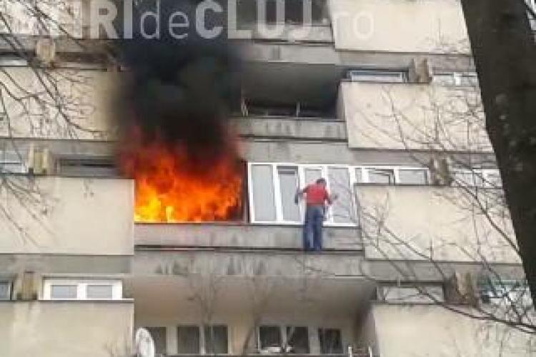 Incendiu strada Alexandru Vaida Voevod! Un bețiv a reușit să își dea foc la apartament