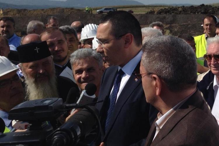 Victor Ponta a venit la Cluj să inspecteze Autostrada Transilvania. Ce a spus premierul FOTO