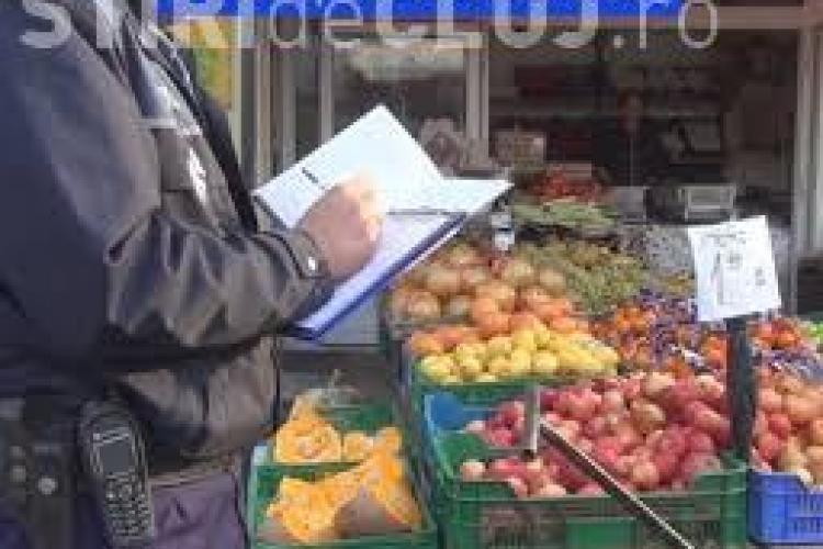 Razie la Hala Agroalimentară din Dezmir! Poliția a confiscat 300 de kg de legume și fructe