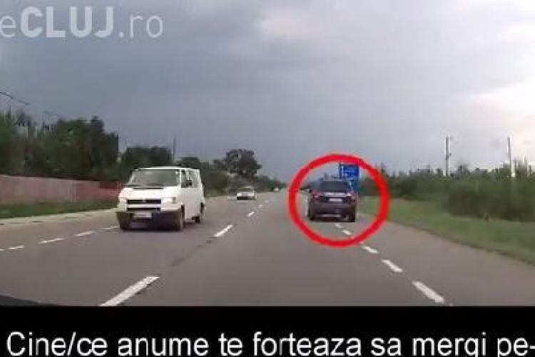 Drumul de la Cluj la Dej, plin de șoferi iresponsabili? Momentele surprinse de un participant la trafic VIDEO