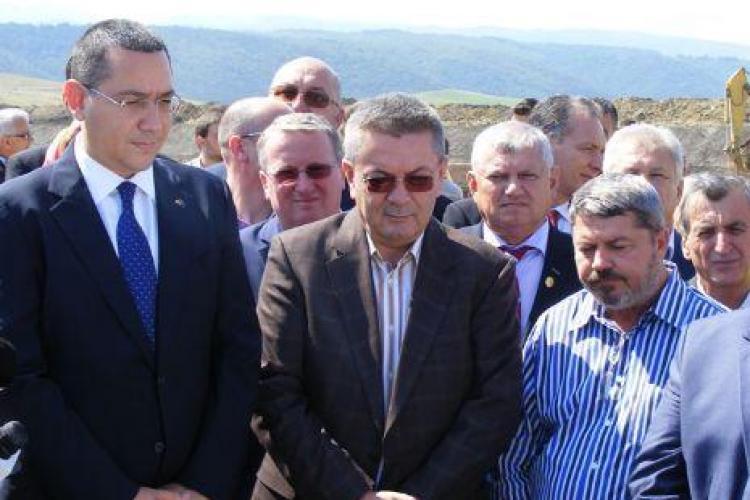 """Ce nu s-a văzut la vizita lui Ponta pe Autostrada Transilvania? """"Regele asfaltului"""", Dorin Umbrărescu, a avut reclamații de făcut"""