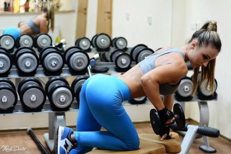 Bianca Borz e printre cele mai sexy clujence! Și-a deschis o pagină de Facebook, unde promovează sportul - FOTO