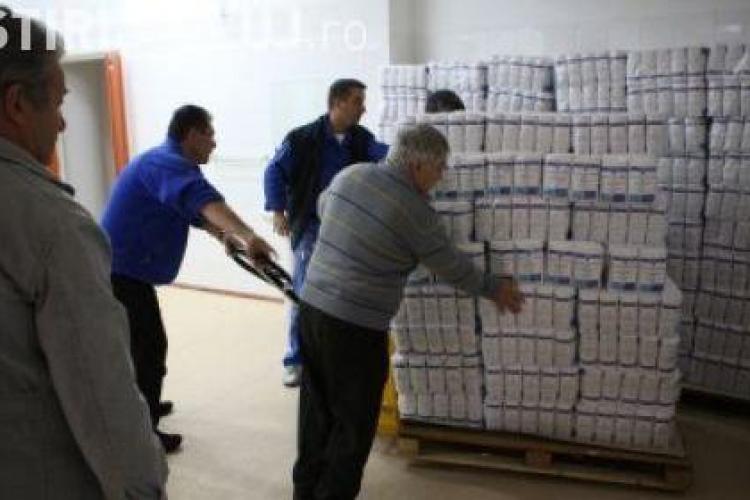 Clujenii isi pot ridica de astazi alimentele oferite de Uniunea Europeana
