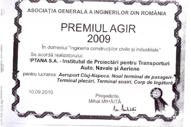 Noile terminale ale Aeroportului International Cluj, premiate
