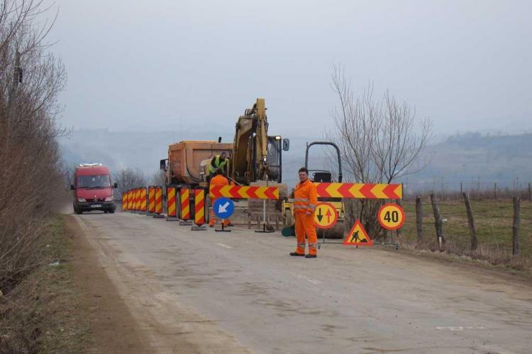 Drumul Judetean Ciucea - Vanatori a intrat in reabilitare