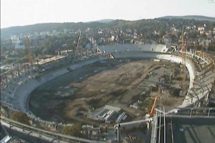 """Lucrarile de la stadionul municipal """"Cluj Arena"""" pot fi vazute live pe net! Da CLICK aici!"""